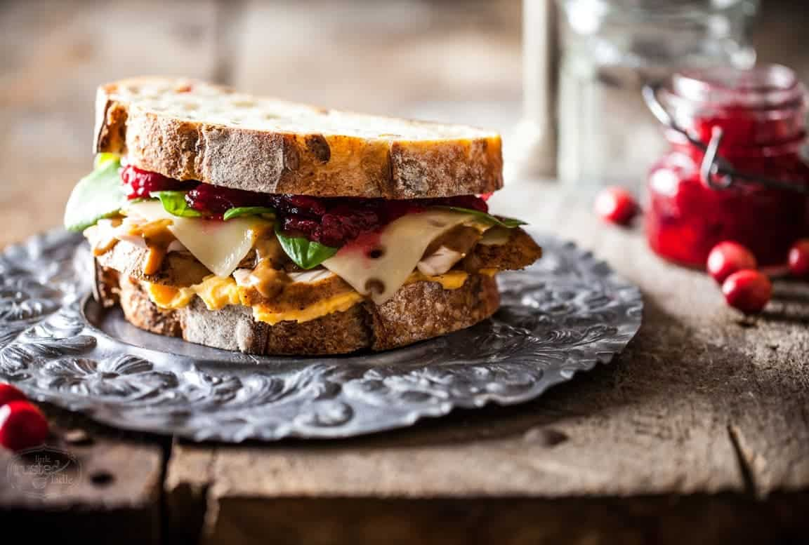 Ultimate Thanksgiving Sandwich Recipe | www.littlerustedladle.com