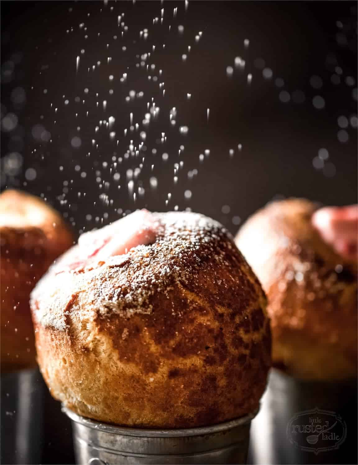 Popovers with Cranberry Buter and Sauce Recipe | www.littlerustedladle.com