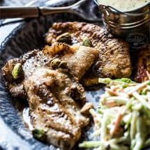 gluten free sautéed fish with a rum butter sauce | www.littlerustedladle.com