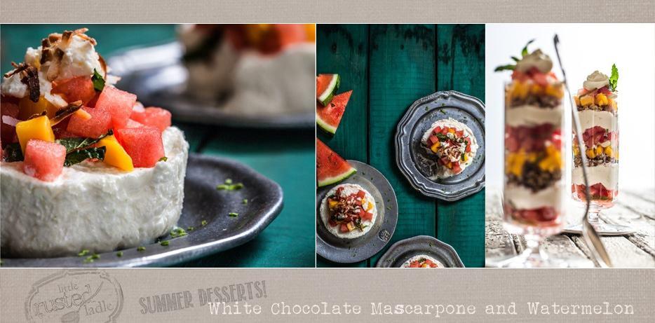 Little Rusted Ladle - Jena Carlin - Jim Rude-White Chocolate Mascarpone and Watermelon Dessert Recipe-KW