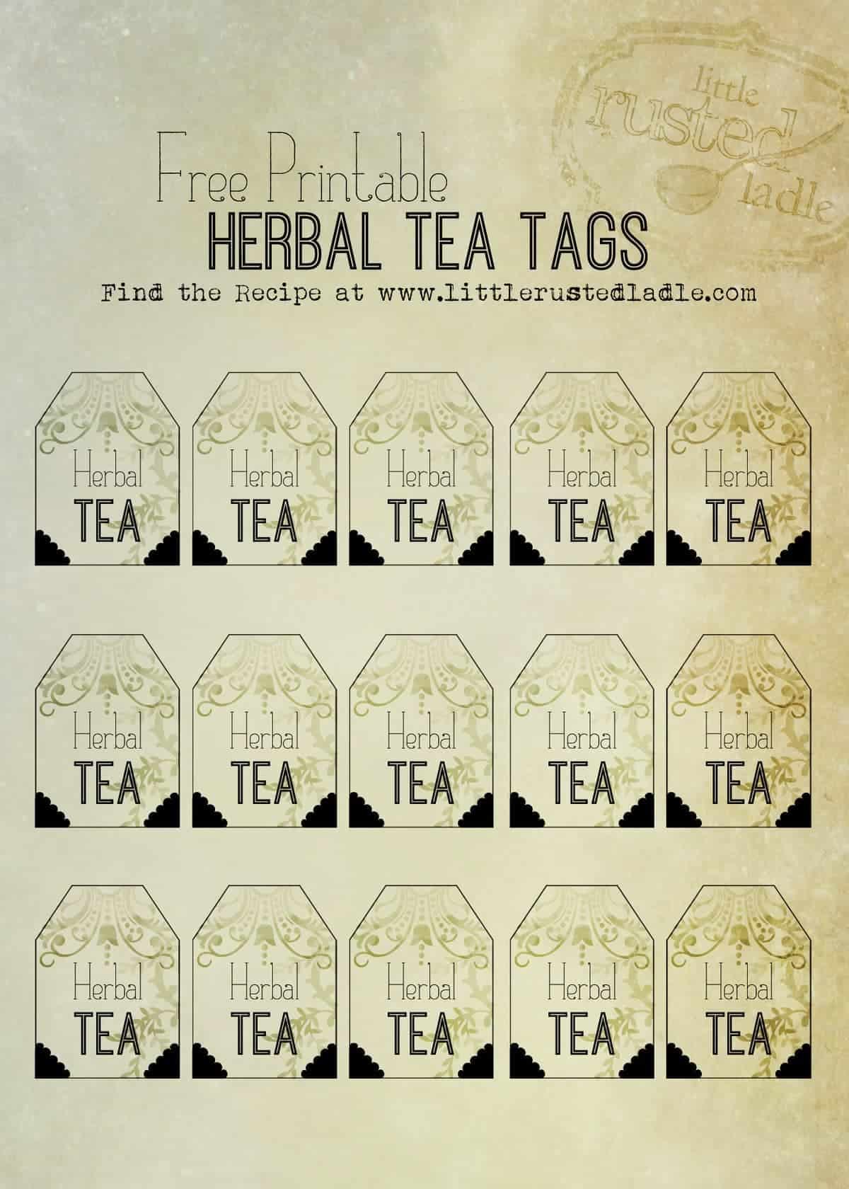 Little Rusted Ladle - Free Printable Herbal Tea Bag Tags_3