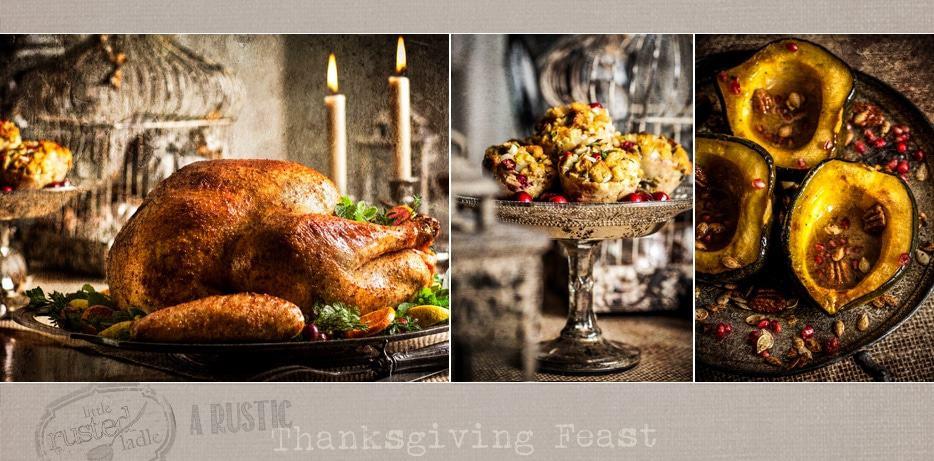 Turkey | Stuffing | Squash | Thanksgiving Feast Recipes and Styling Tips | www.littlerustedladle.com