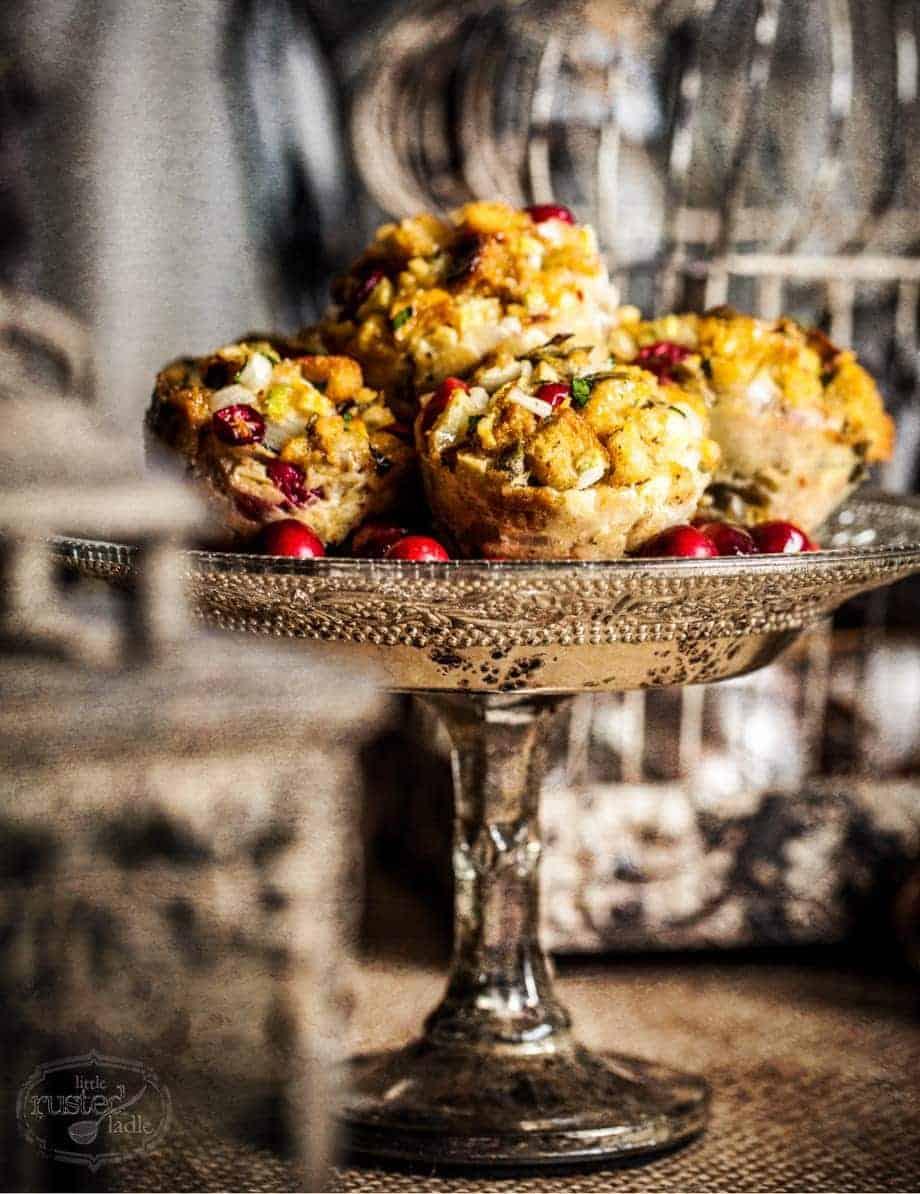 Cranberry Sage Stuffins | Stuffing Recipe | www.littlerustedladle.com