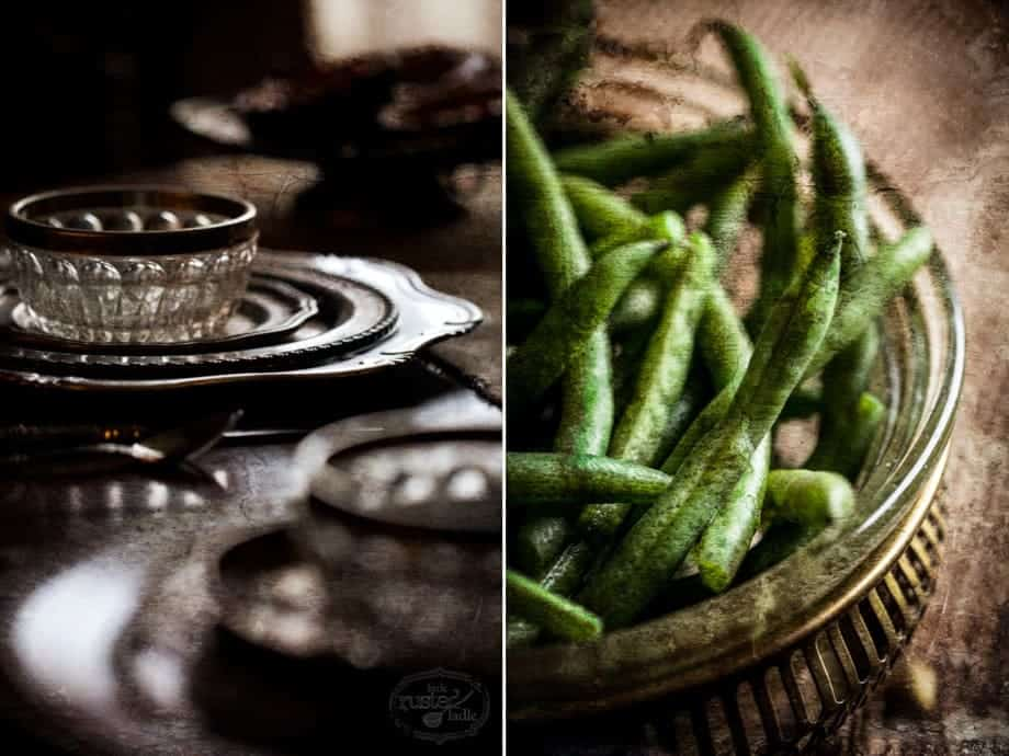 Green Beans | Thanksgiving Table Scape Feast Recipes and Styling Tips | www.littlerustedladle.com