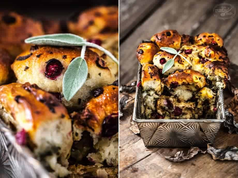 Thanksgiving Stuffing Pull Apart Bread - www.littlerustedladle.com
