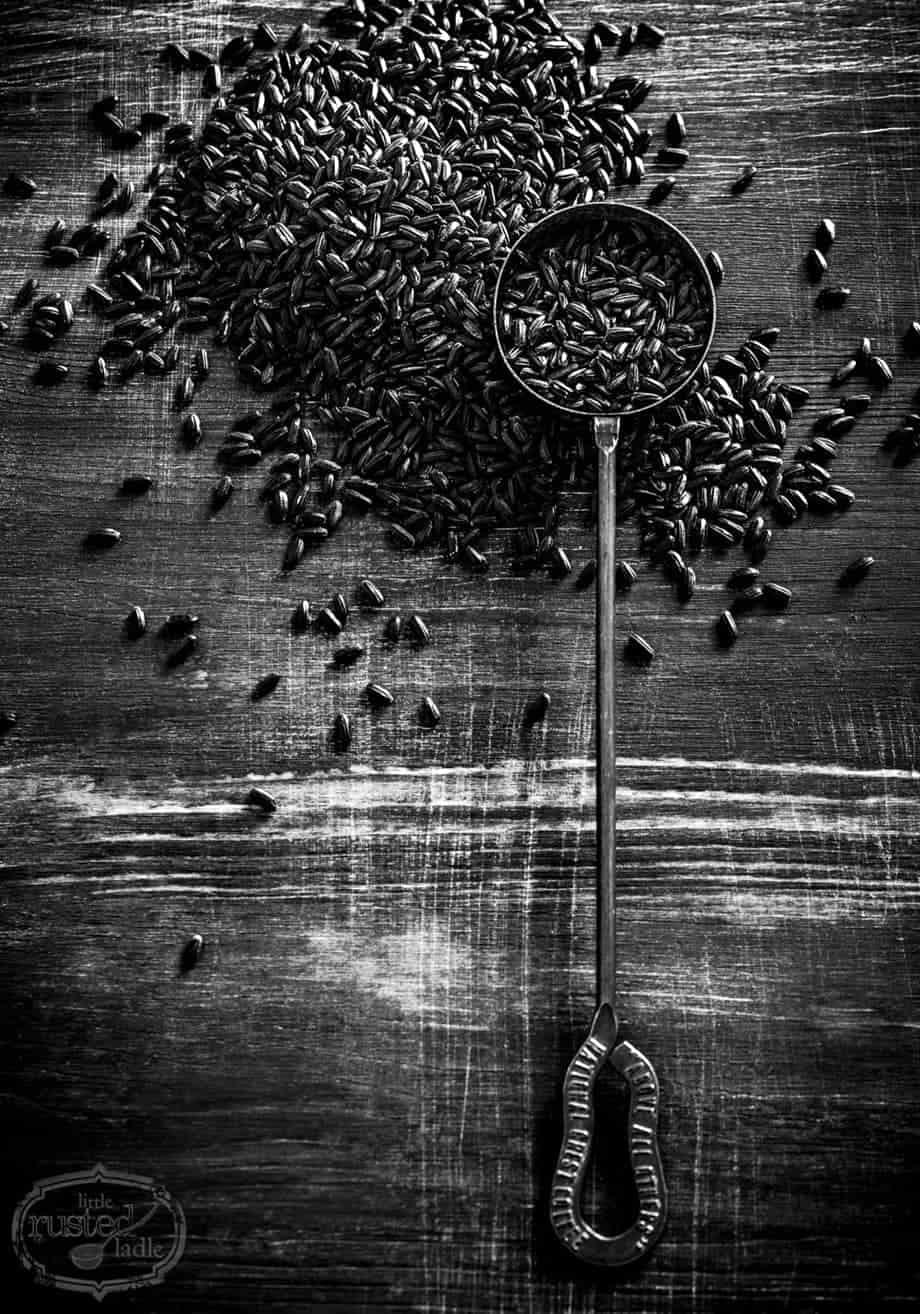 Black Rice Ingredient Food Photography | www.littlerustedladle.com