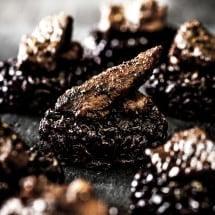 Black Rice Cakes with Ponzu Beef | Food Photography | www.littlerustedladle.com