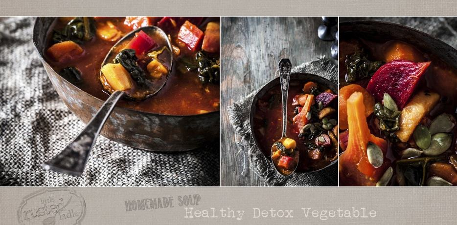 Healthy Detox Vegetable Soup | www.littlerustedladle.com
