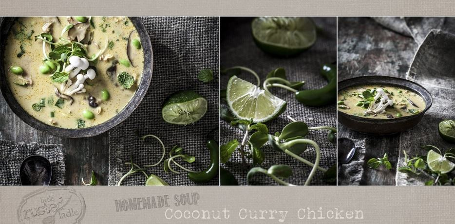 Coconut Curry Chicken Soup Recipe | www.littlerustedladle.com