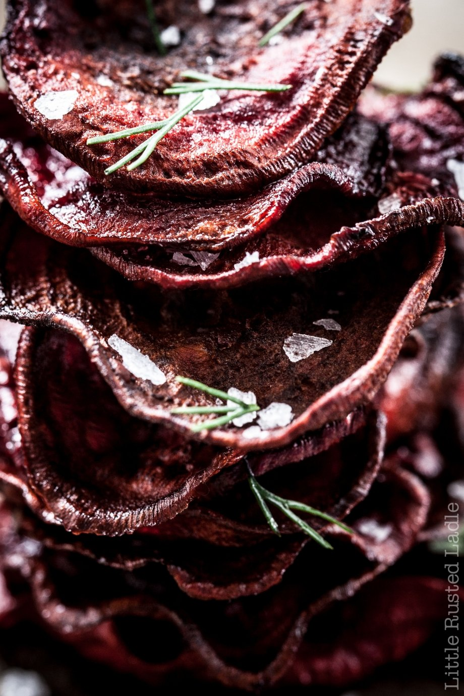 Root Vegetable Beets Rustic Backed Chips- Jena Carlin Photography - Little Rusted Ladle #foodphotography #Beets #FallRecipes