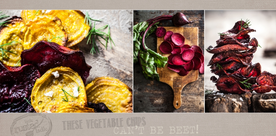 Root Vegetable Beets Rustic Baked Chips - Jena Carlin Photography - Little Rusted Ladle