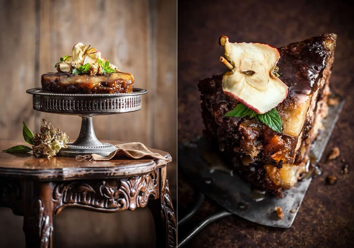 Food Photography Tips - Best Ever Apple Cake - Little Rusted Ladle - Jena Carlin Photography - King Arthur Flour Limited Usage