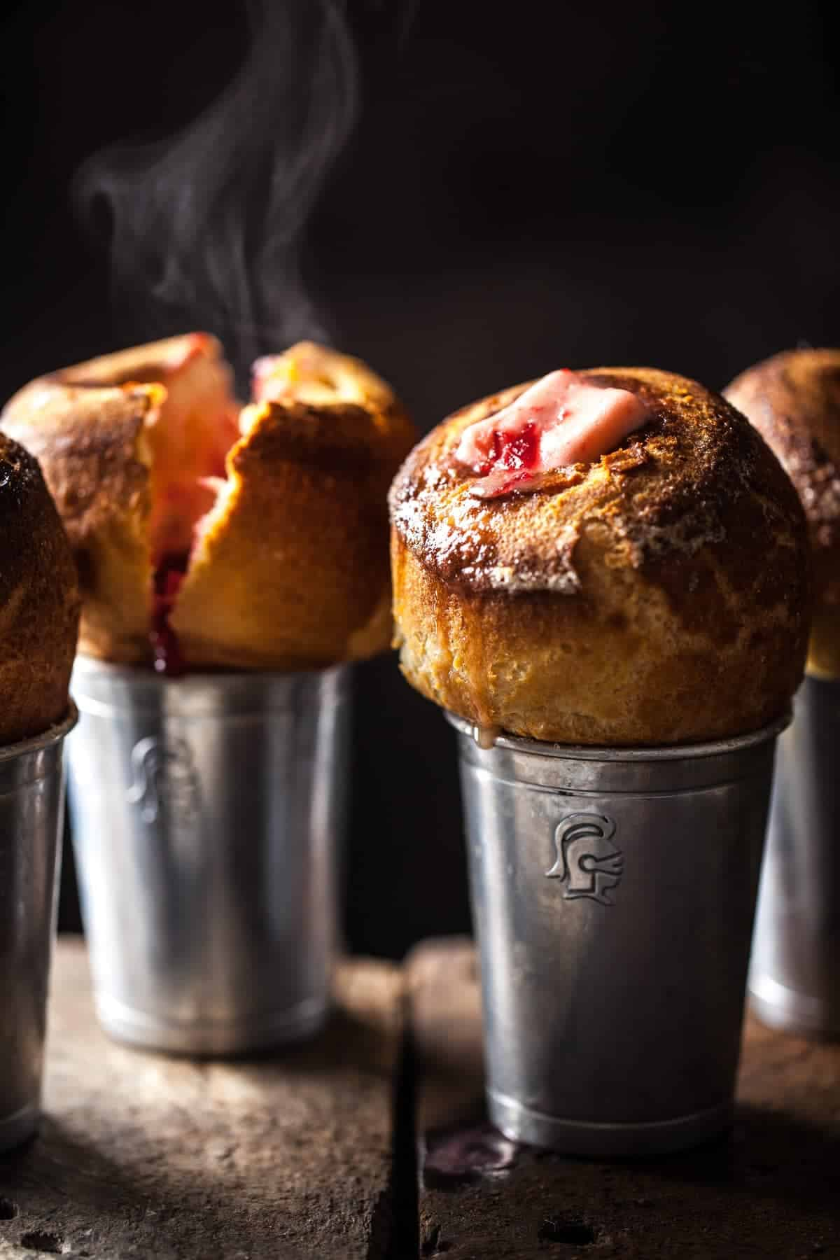 Cranberry Butter Popovers - Little Rusted Ladle - Jena Carlin Photography - King Arthur Flour Limited Usage
