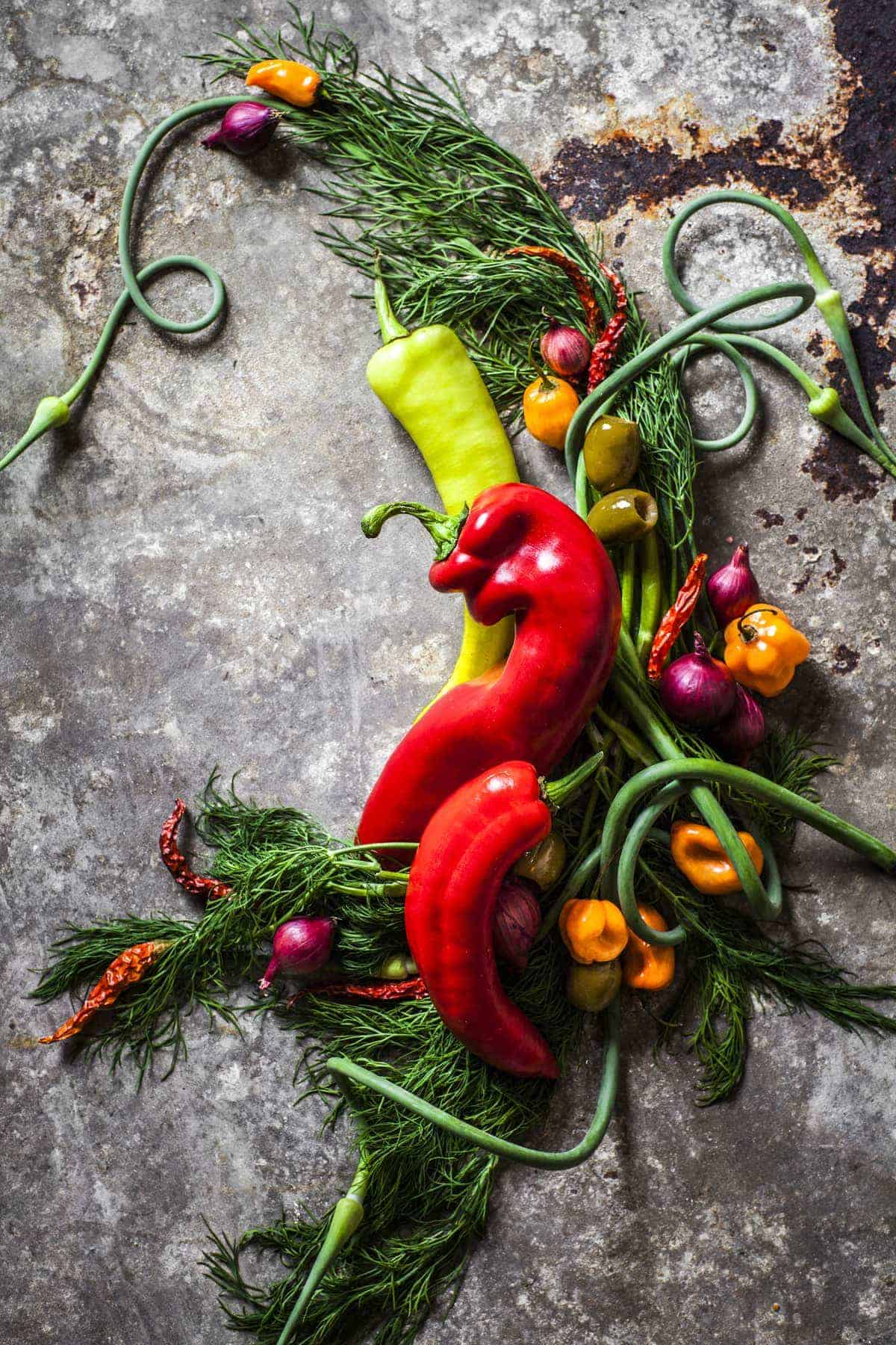 Food Photography Tips - Spicy Garden Vegetable Infused Vodka - Jena Carlin Photography - King Arthur Flour Limited Usage