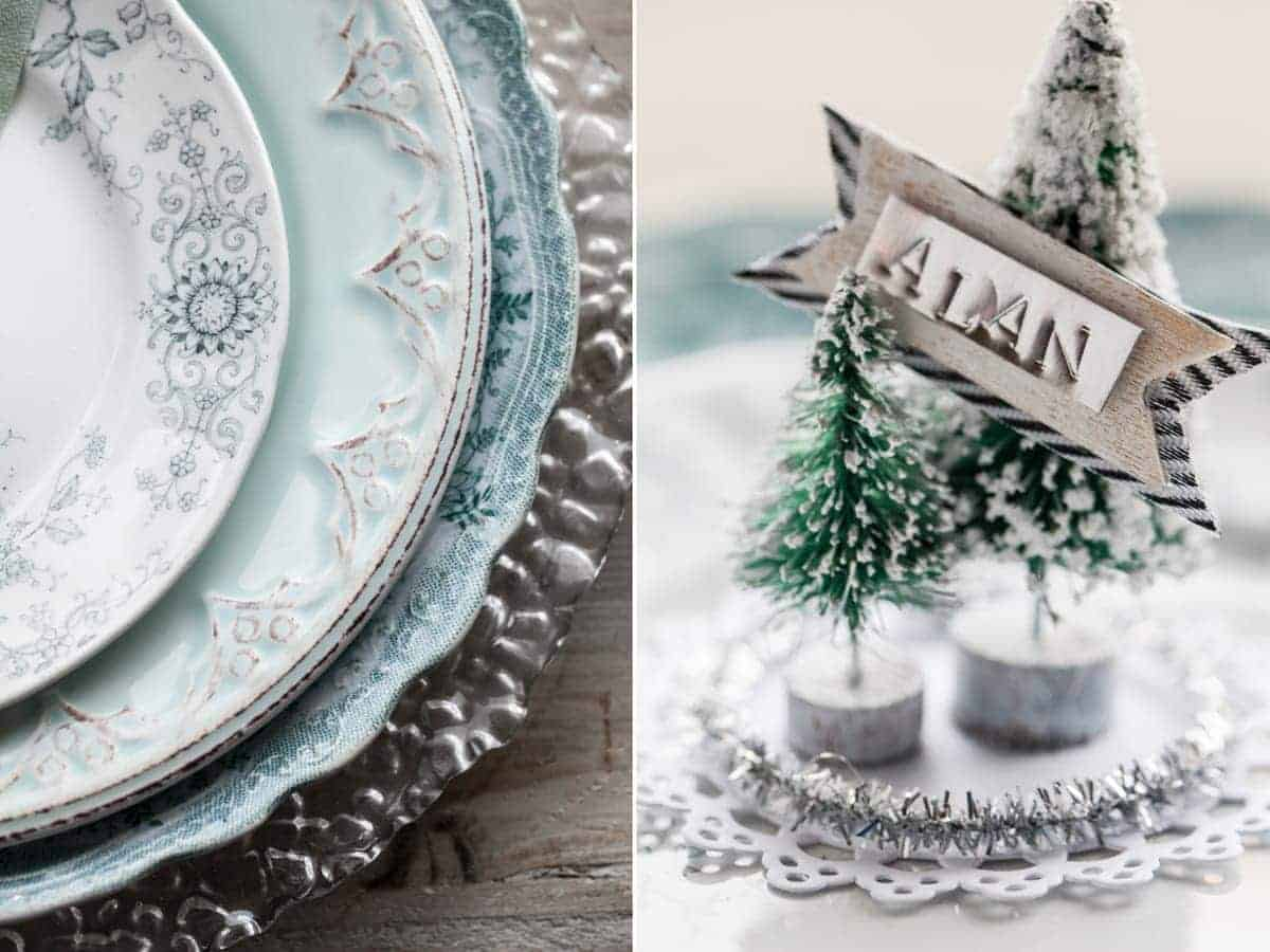 DIY Snow Globe Ornament Place Cards - Little Rusted Ladle Blog - 10 96