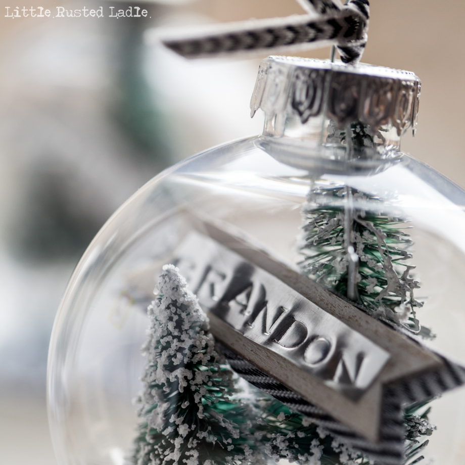 DIY Snow Globe Ornament Place Cards - Little Rusted Ladle Blog - 14 96WM