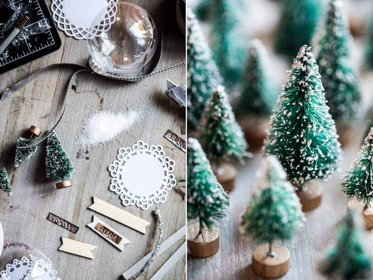 DIY Snow Globe Ornament Place Cards - Little Rusted Ladle Blog - 15 96