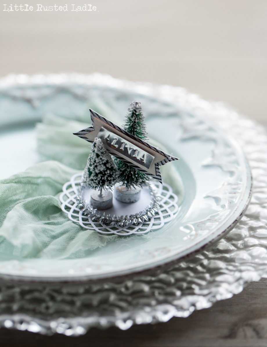 DIY Snow Globe Ornament Place Cards - Little Rusted Ladle Blog - 19 96WM