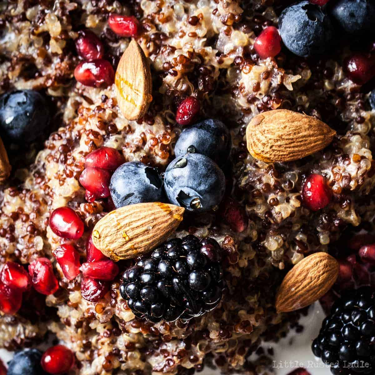 Ancient Grains | Quinoa Crockpot Oatmeal Quinoameal Recipe- Little Rusted Ladle_0007-WEB WM