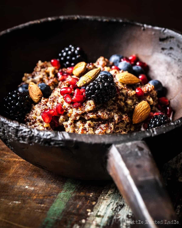 Ancient Grains | Quinoa Crockpot Oatmeal Quinoameal Recipe- Little Rusted Ladle_0030-WEB WM