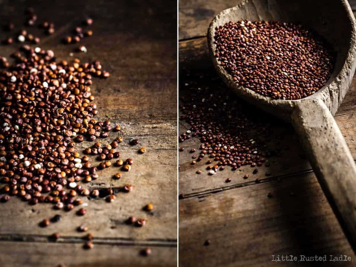 Ancient Grains on Wooden Spoons and Oatmeal - Little Rusted Ladle_96
