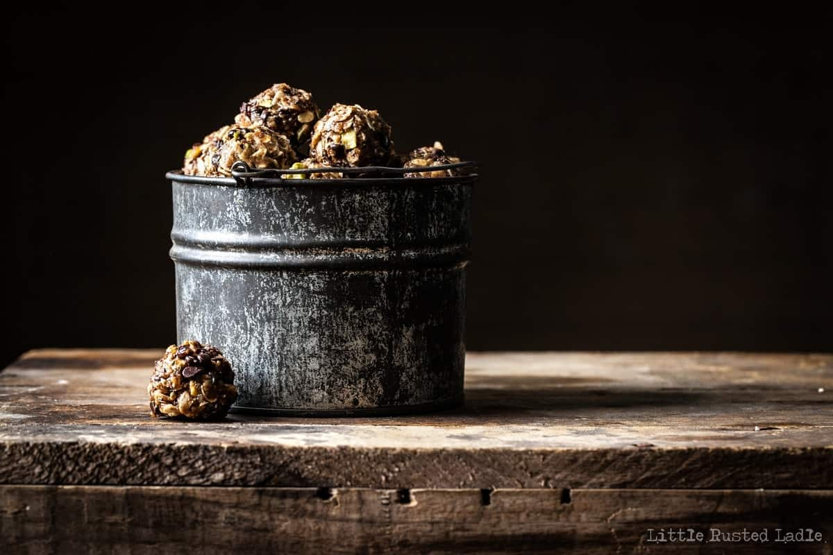 Cherry Energy Balls - Ancient Grains - Little Rusted Ladle - 009-96 WM