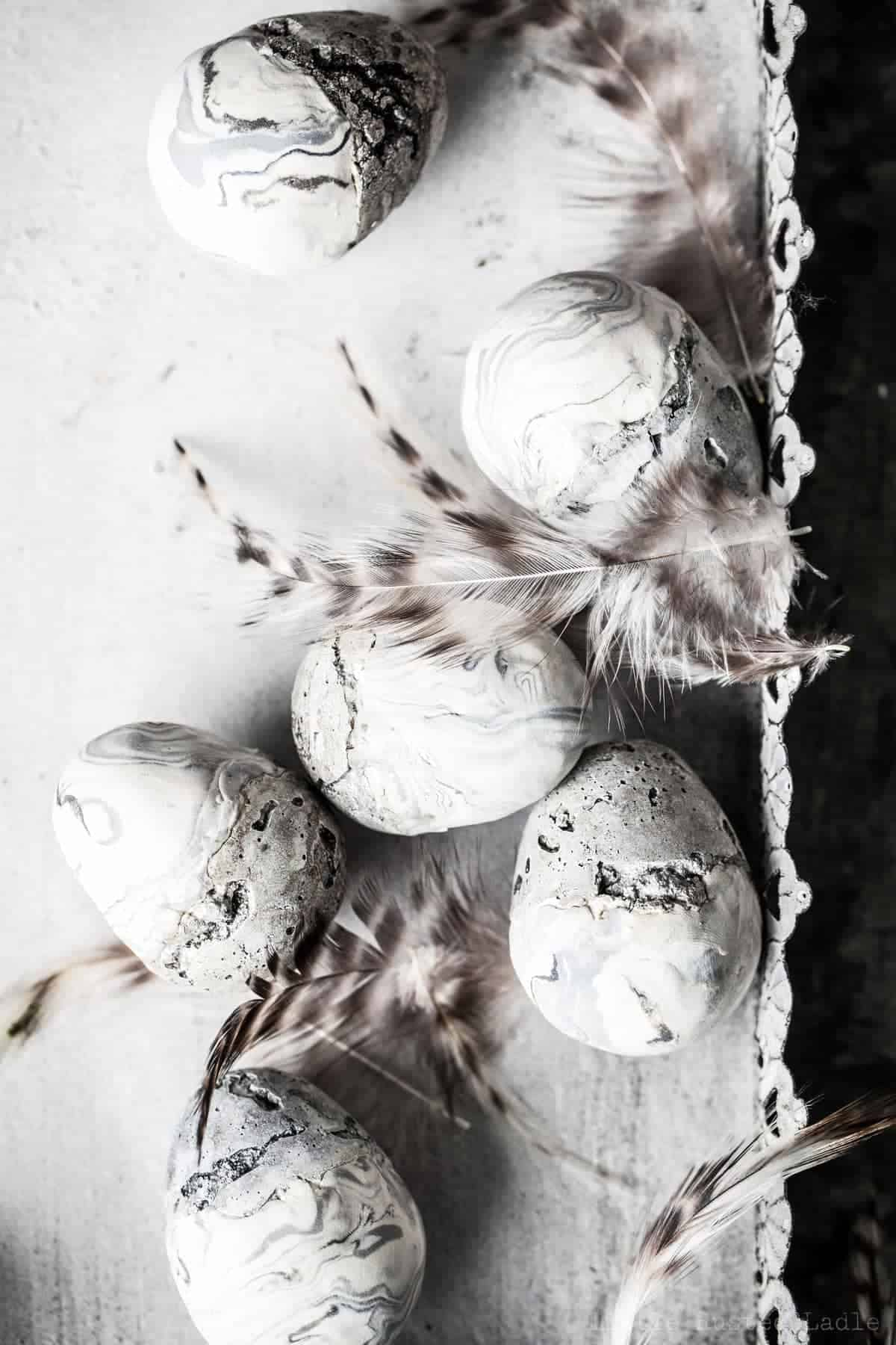 DIY Marble and Concrete Easter Egg Craft - Little Rusted Ladle - Jena Carlin Photography 2 -011 - 96 WM