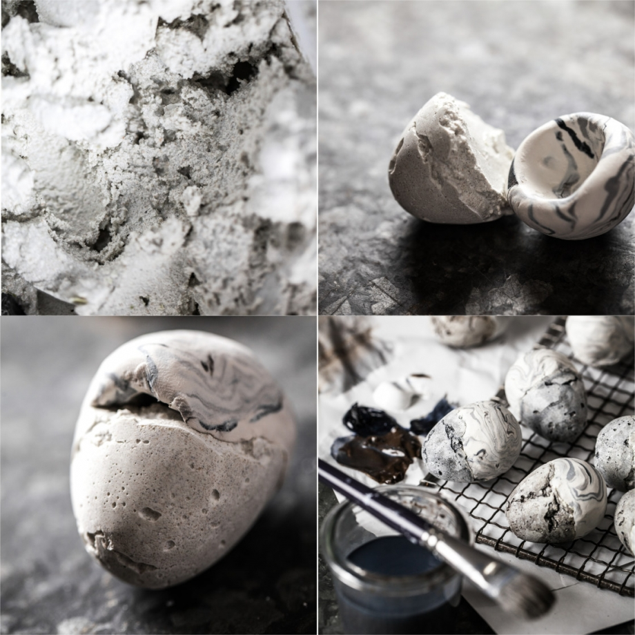 DIY Marble and Concrete Easter Egg Craft - Little Rusted Ladle - Jena Carlin Photography 4