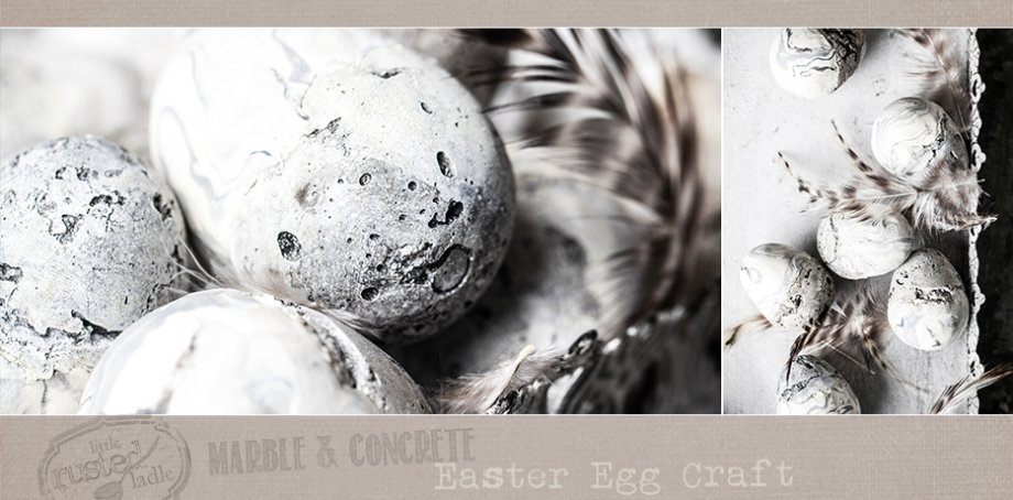 DIY Marble and Concrete Easter Egg Craft - Little Rusted Ladle - Jena Carlin Photography FB