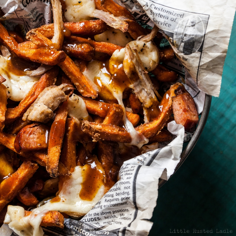 Poutine Recipe March Madness Party Appetizer - Little Rusted Ladle - Jena Carlin Photography -011 96 WM