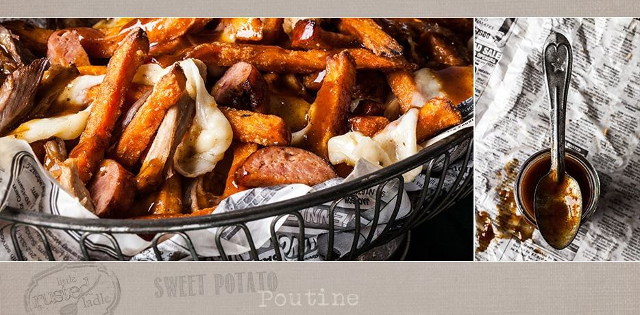 Poutine Recipe March Madness Party Appetizer - Little Rusted Ladle - Jena Carlin Photography FB
