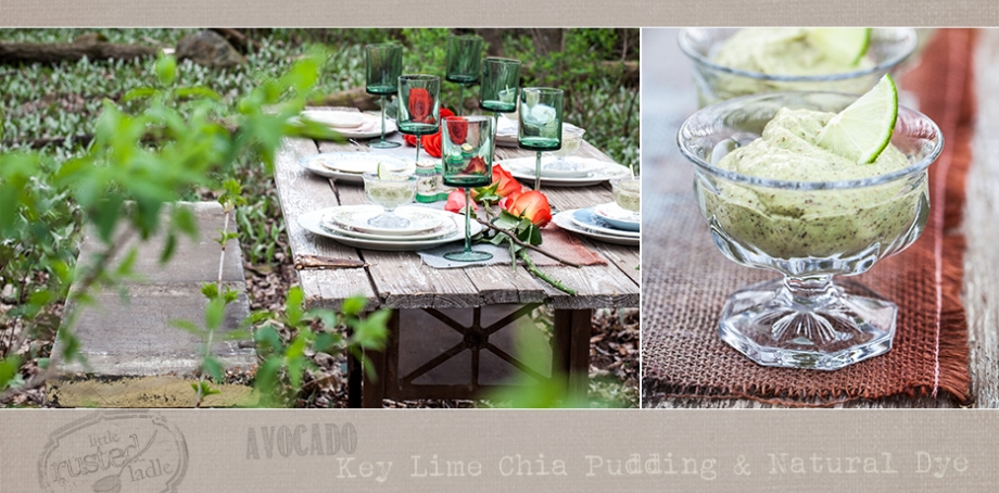 Avocado Key Lime Chia Pudding and Natural Dip Dyed Table Runner 2