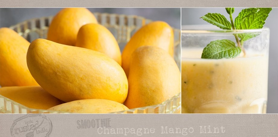 Champagne Mango Mint Smoothie cocktail Recipe