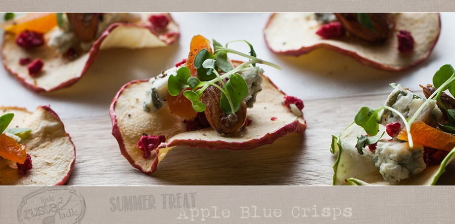 Apple Blue Crisps - Simple Summer Treat Appetizer Food Photography - Little Rusted Ladle - WebFB