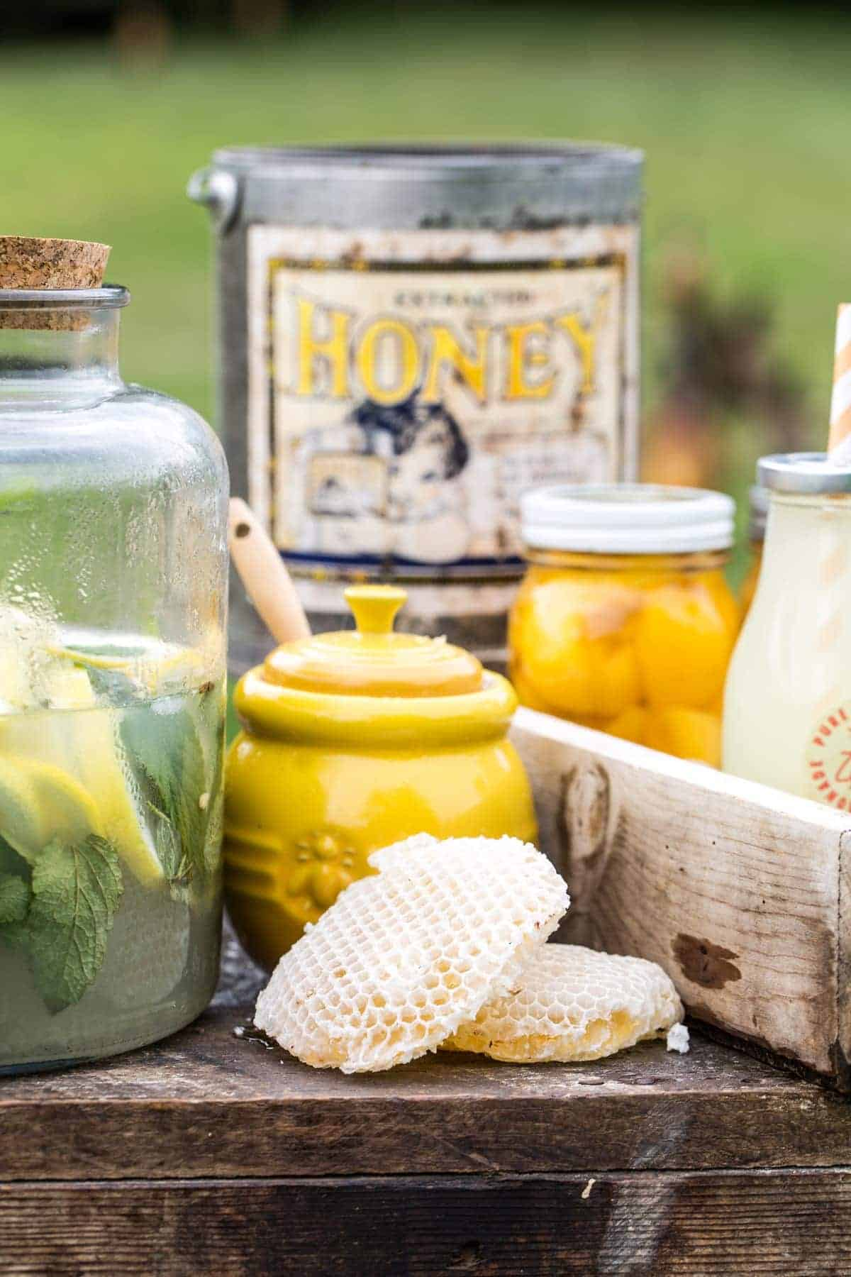 Lifestyle Bee Farm - Honey Mint Peach Lemonade Recipe - Kids Lemonade Stand - Jena Carlin Photography - Little Rusted Ladle - Web-20
