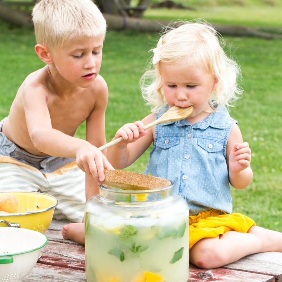 Lifestyle Bee Farm - Honey Mint Peach Lemonade Recipe - Kids Lemonade Stand - Jena Carlin Photography - Little Rusted Ladle - Web-39