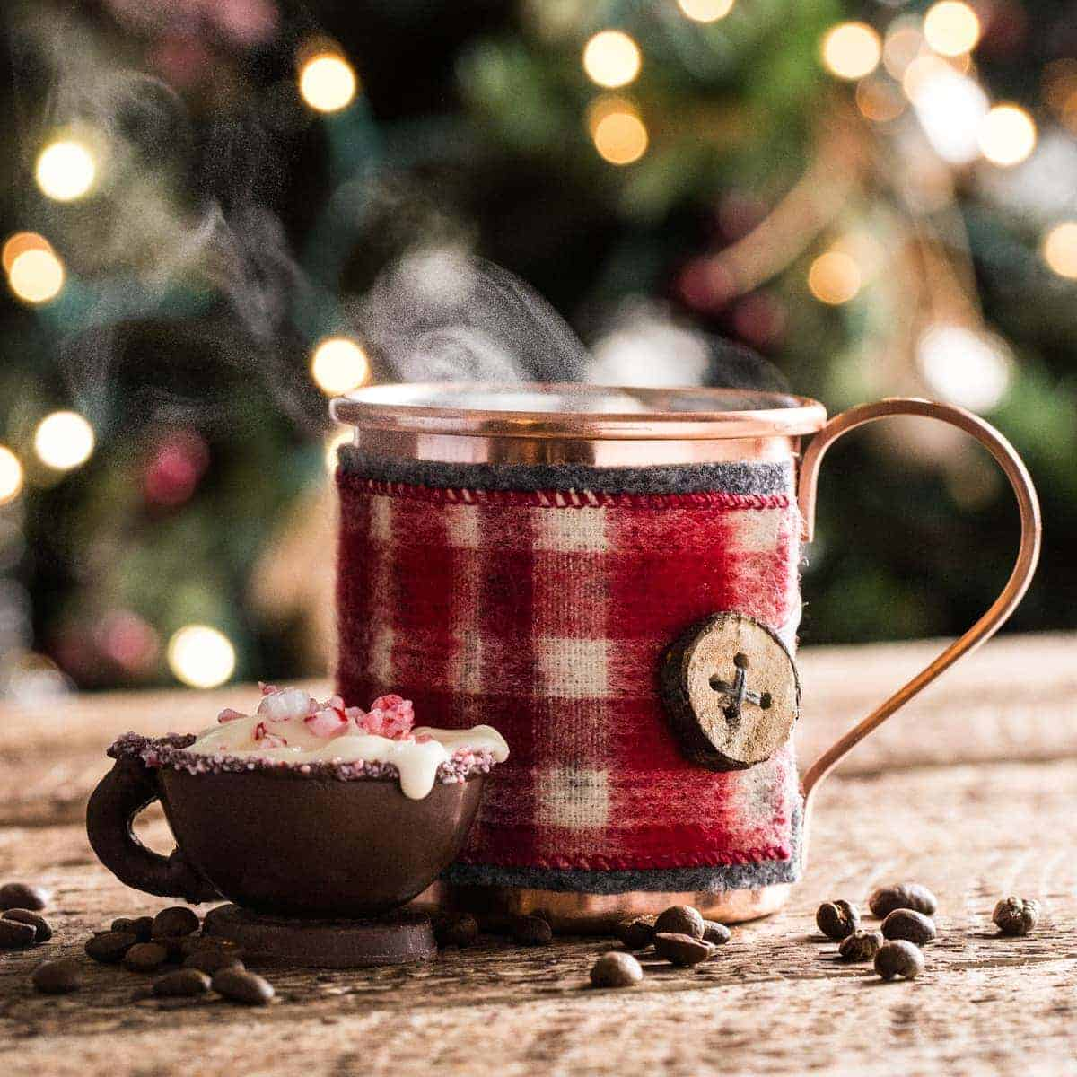 Hot Cocoa Craft - Peppermint Mocha - www.littlerustedledle.com