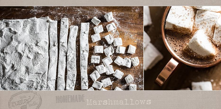 Homemade Marshmallows Recipe - Fluffy, Sweet and So Easy - Hot Cocoa - Little Rusted Ladle - #FoodPhotography