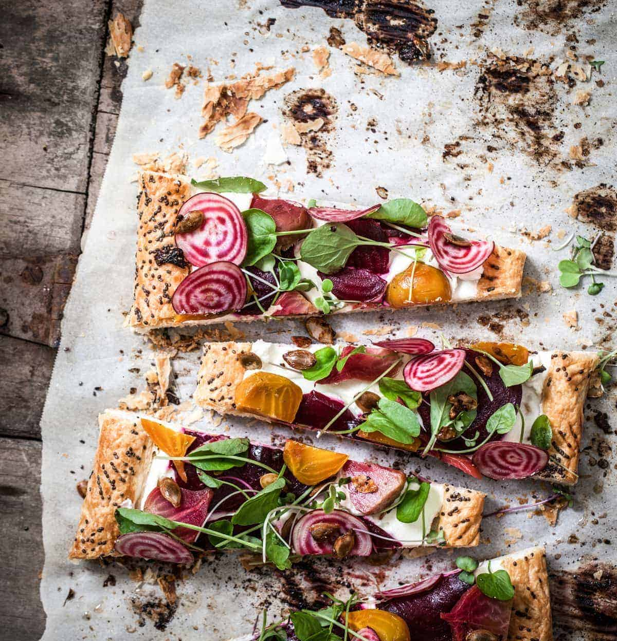 3 Beet Watercress Tart Recipe