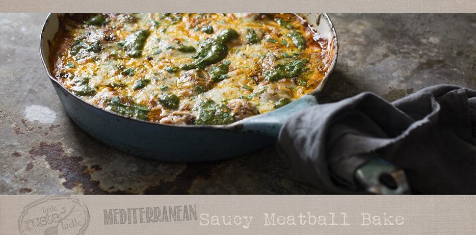 Mediterranean Saucy Meatball Bake Recipe Moody Food Photography