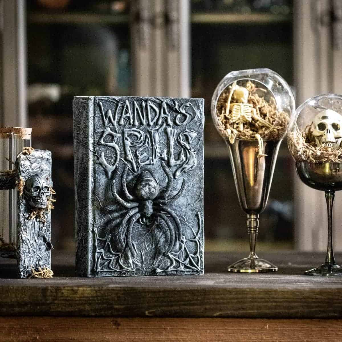 DIY Spell Book, Skeleton Terrariums, and Potion Vials