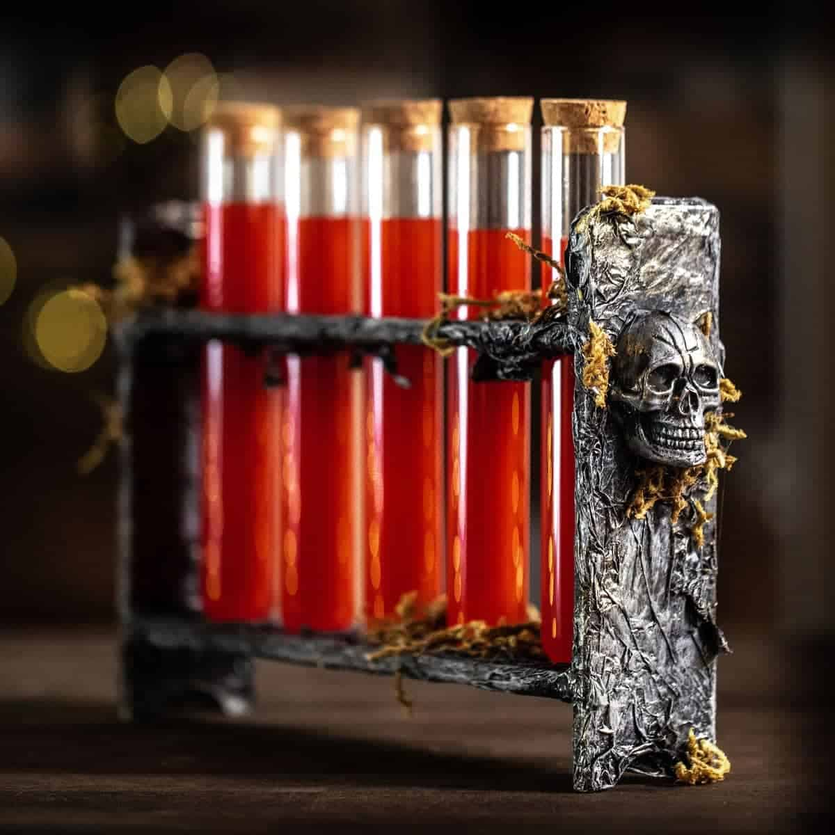 Scientist Shot Glass Vials Halloween Craft
