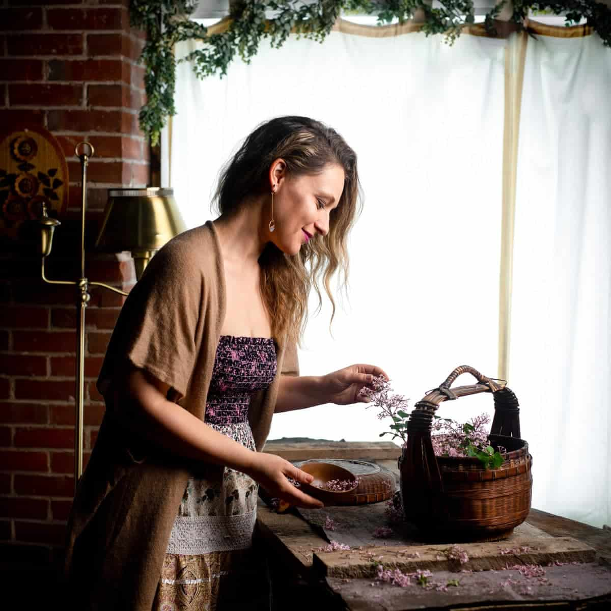 Jena Carlin in her food photography studio