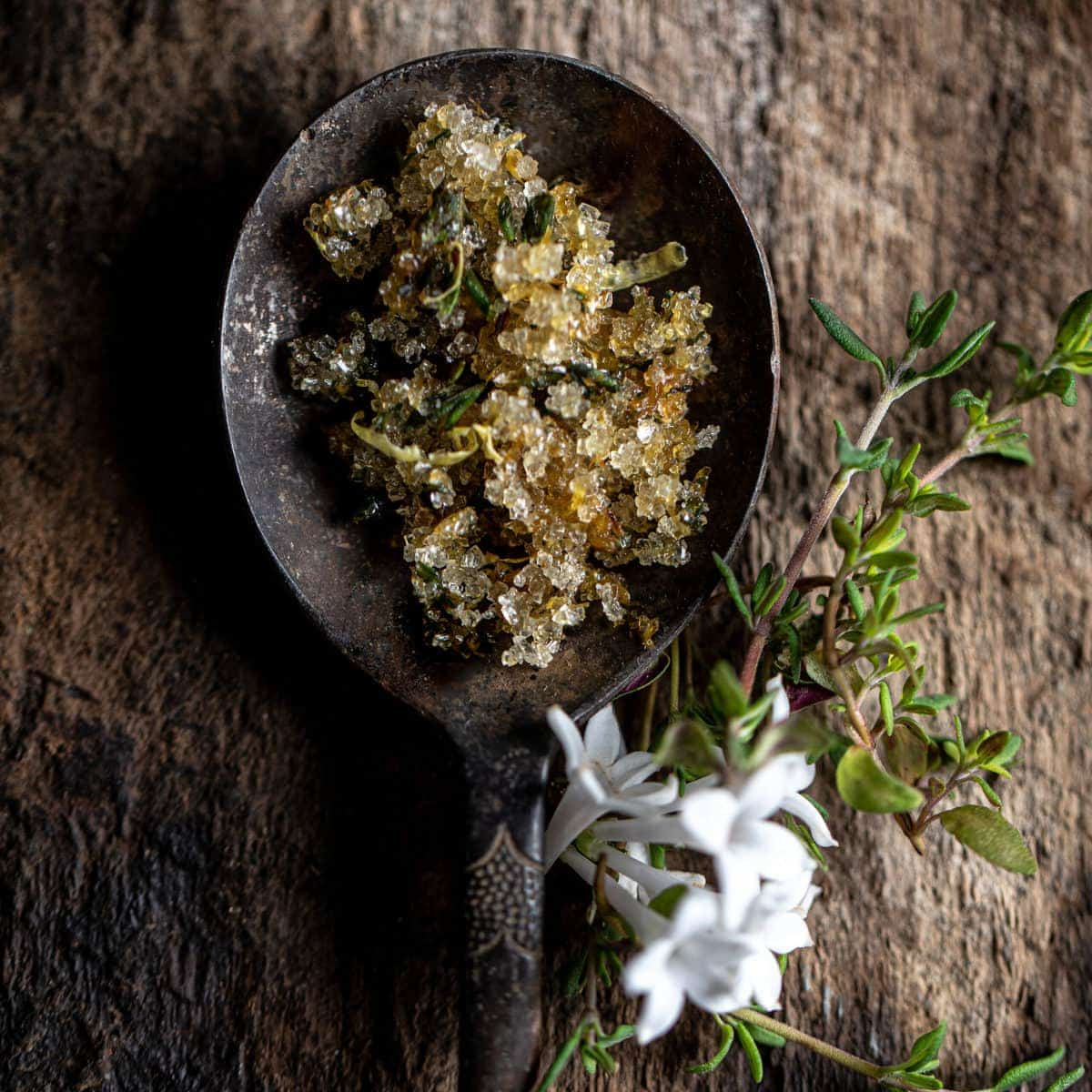 Lilac, Thyme, Lemon Sugar