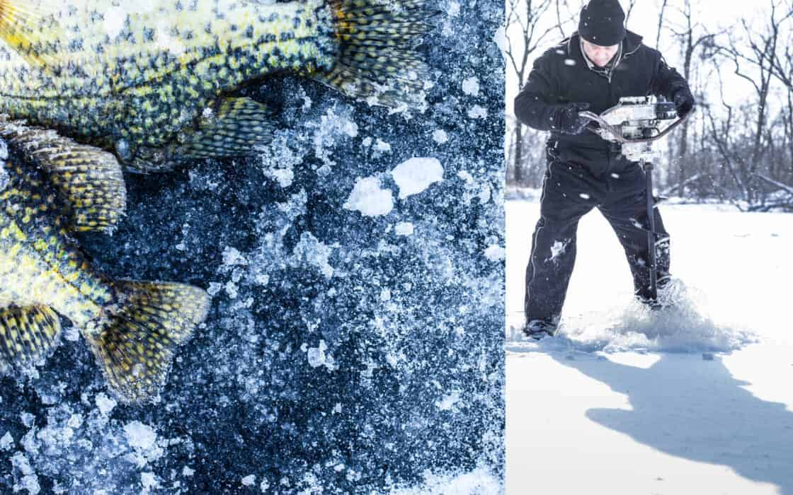 ice fishing in the midwest