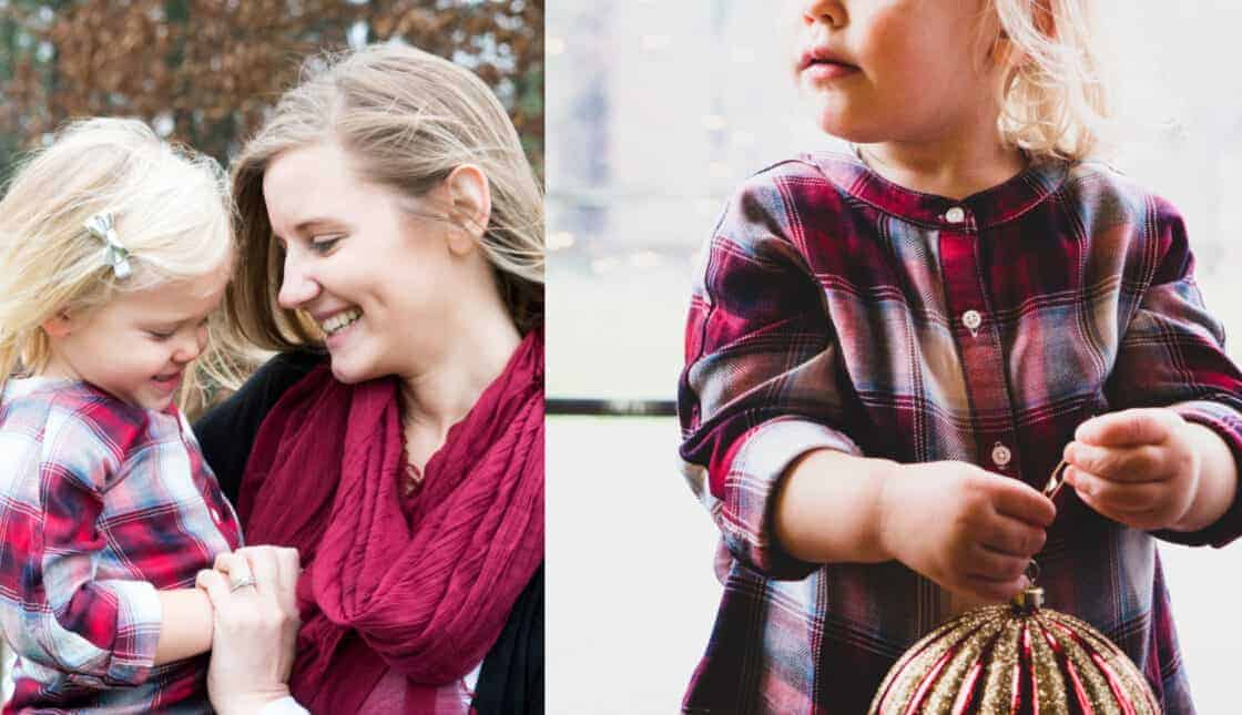 mother daughter Christmas lifestyle photo shoot