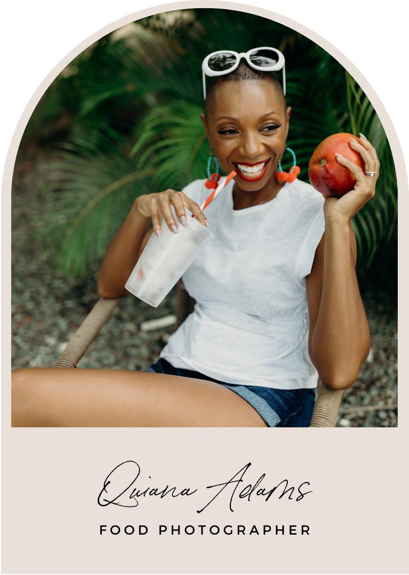 quiana adams food photographer headshot