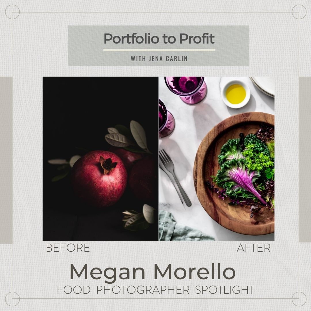 Before and After food photography portfolio to profit